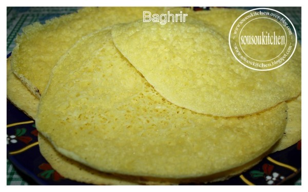 Baghrir بغرير Crepes marocaines – Recette 2